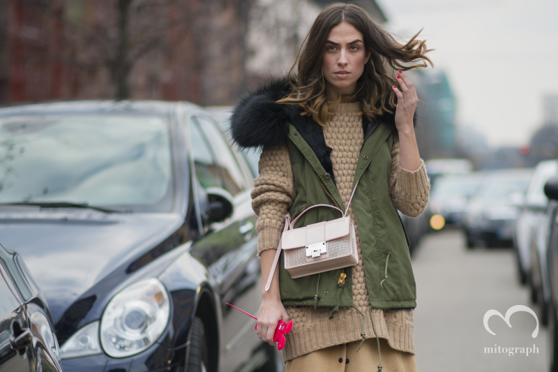 Blogger Erika Boldrin at Etro Milan Fashion Week 2014 Fall Winter MFW Season