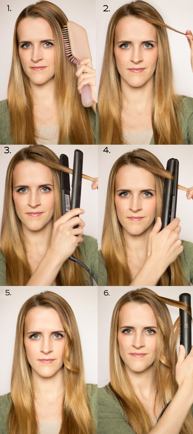 How to create soft curls with your straight iron part 1