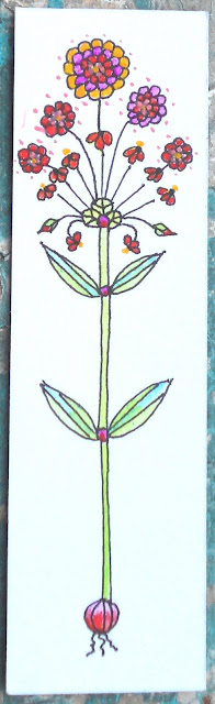 Skinny flower drawing