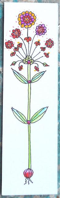 Skinny flower drawing