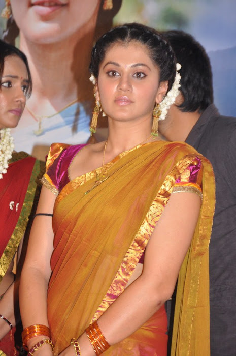 tapseelakshmi manchu in half saree at maranthen mannithen movie audio release photo gallery
