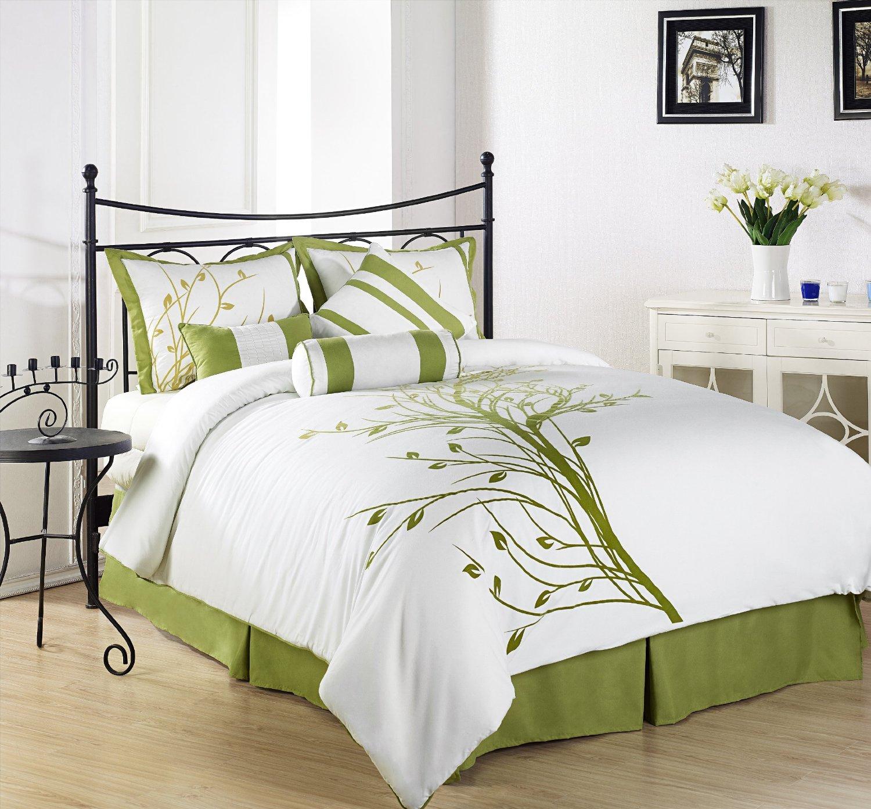 Olive Green Bedding Sets Green Serene on a Bud