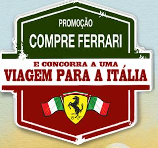 """Promoção """"Compre Ferrari Concorra a uma Viagem para a Itália"""""""