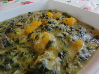 Pumpkin and Spinach in Coconut Milk