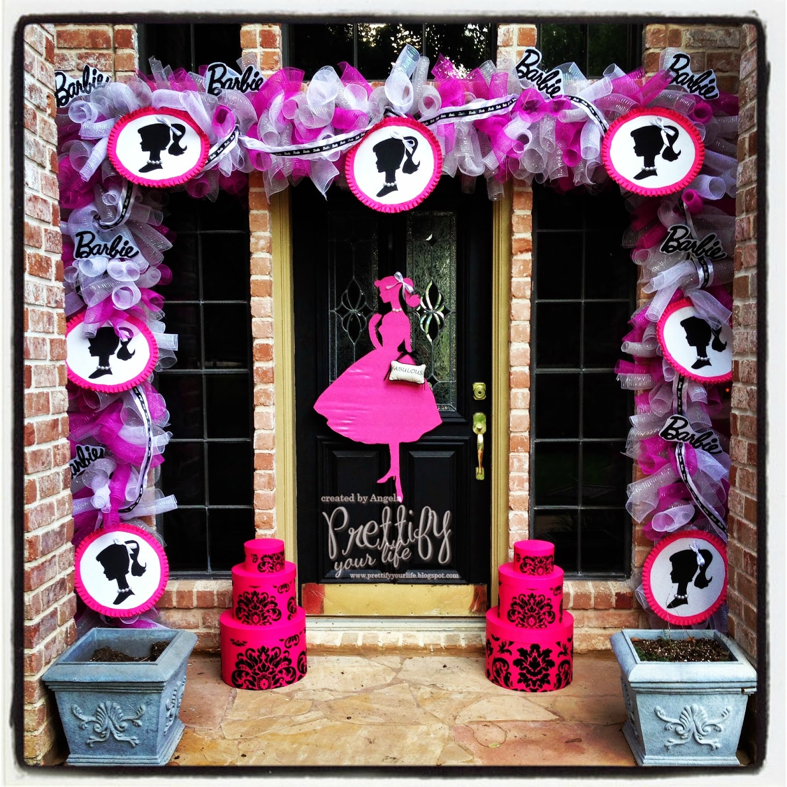 Prettify your life episode 125 barbie doorscape for my mom for Decoration barbie
