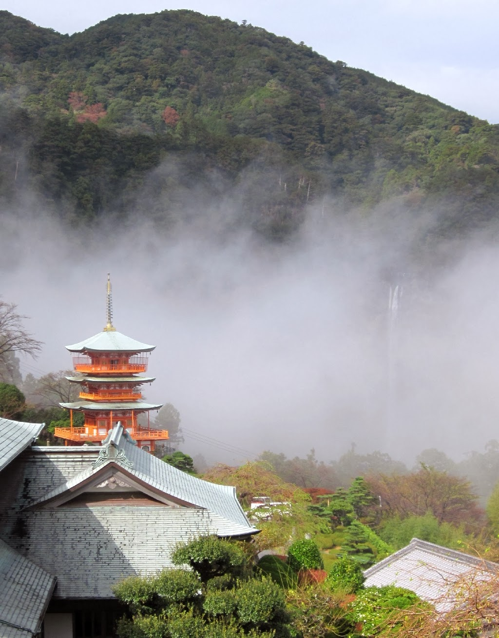 Nachi Falls in the mist