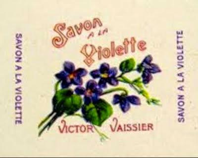 Emballage savon à la violette