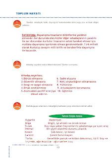6.Sınıf Türkçe Doku Yayınları Çalışma Kitabı Cevapları Sayfa 10