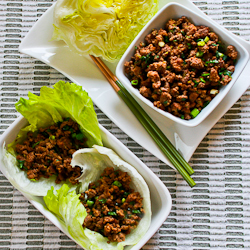 Recipe for Quick Sriracha Beef Lettuce Wraps | Kalyn's Kitchen®