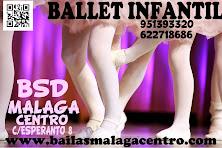CURSOS DE BALLET INFANTIL EN BSD MÁLAGA CENTRO.