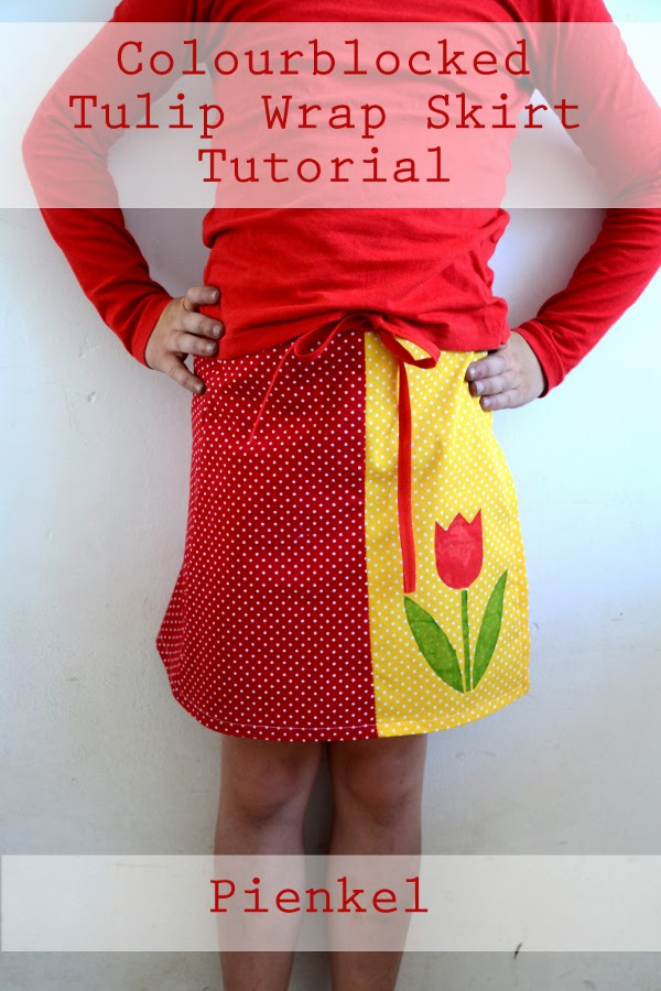Colorblocked Tulip Wrap Skirt Mabey She Made It