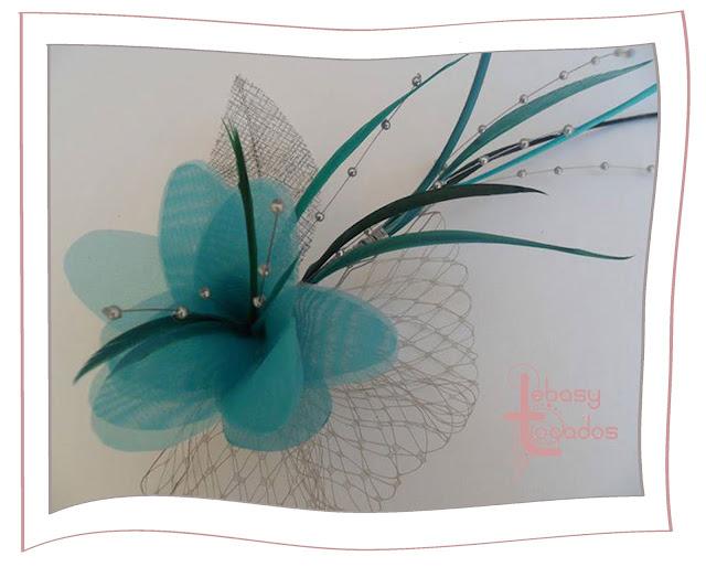 Tocado flor de la nueva colección Lebasy Tocados