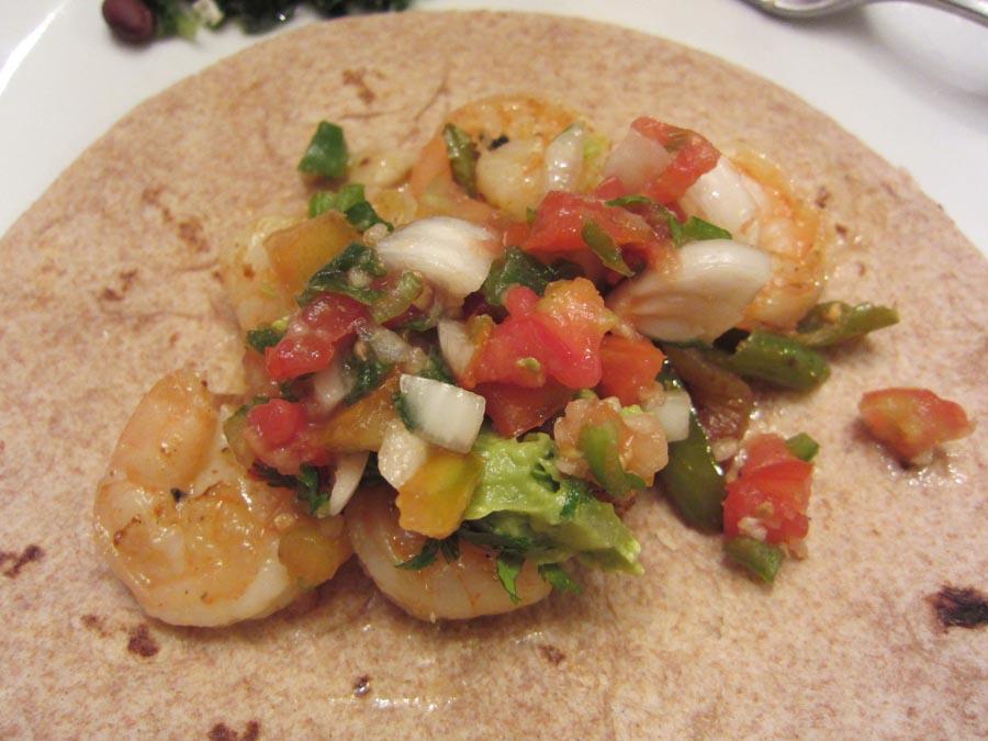 Saturday's Mouse: Garlic Shrimp Fajitas