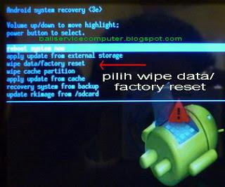 tombol hard reset untuk Tablet Android merk lokal/ china sepert Advan