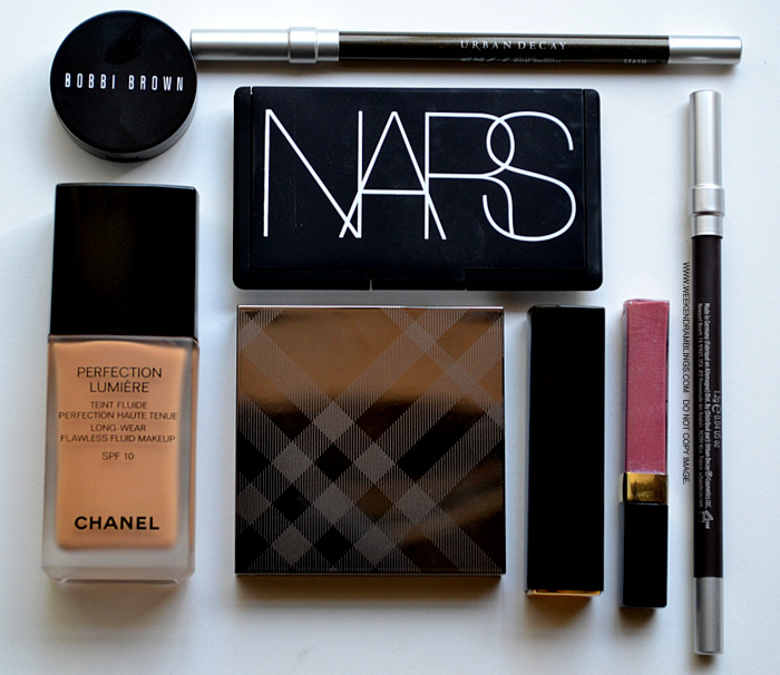 Easy Everyday Makeup Look How To Apply Products Used NARS Chanel Urban Decay Bobbi Brown Burberry