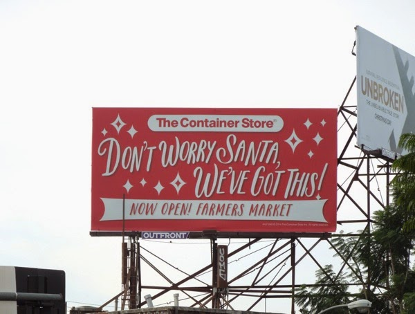 Dont worry Santa we got this Container Store billboard