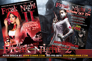 Freak Night 2 Halloween Party Flyer Design California