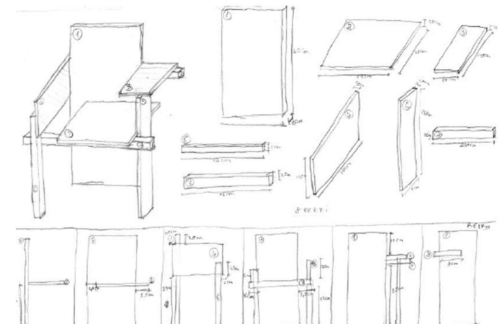 Cecilia polidori twice design la berlin chair di gerrit for Sedia misure