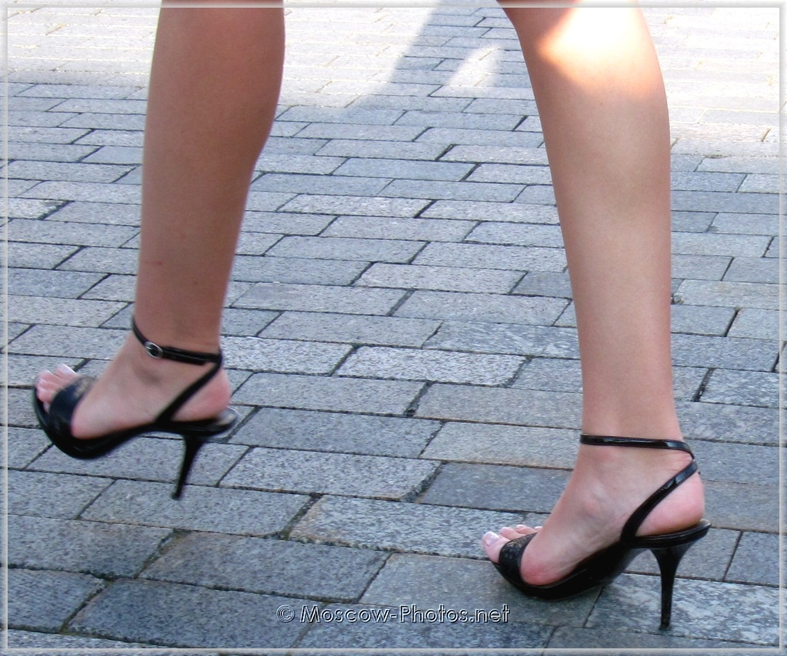 Black Summer High Heel Shoes