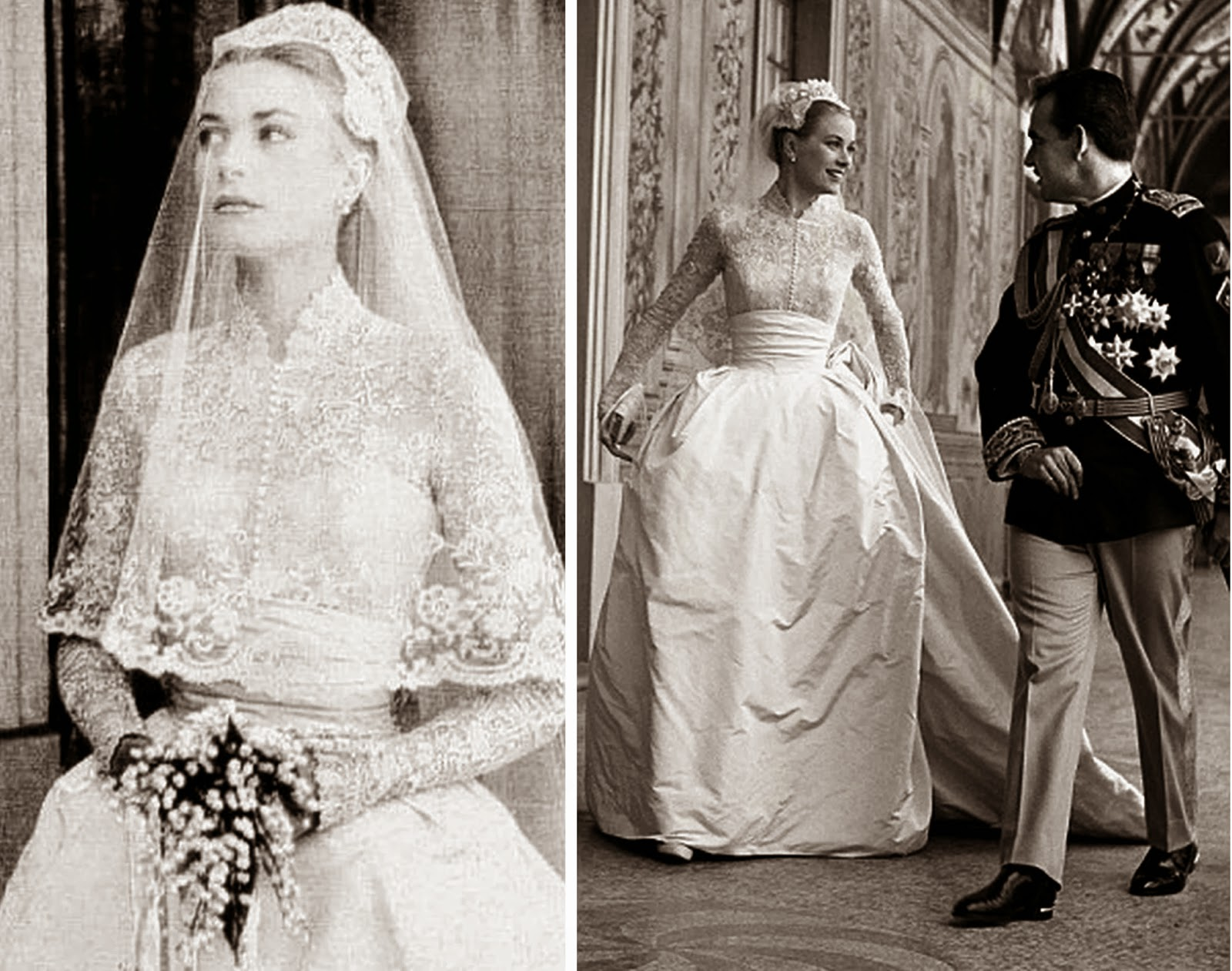 Heavenly Vintage Wedding Blog, Grace Kelly 1950s wedding dress