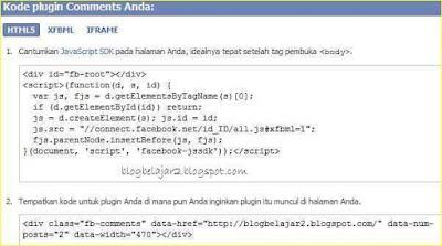 memasang komentar facebook