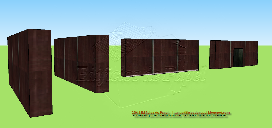 Walls model 1521: Fortification Paper Model