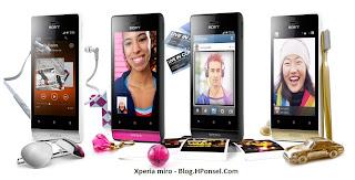 Sony Xperia miro HP Android layar 3.5 inch harga dibawah 2 juta