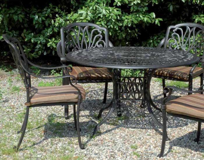 Arredo in ferro e alluminio per il giardino for Salotti in ferro battuto per esterni