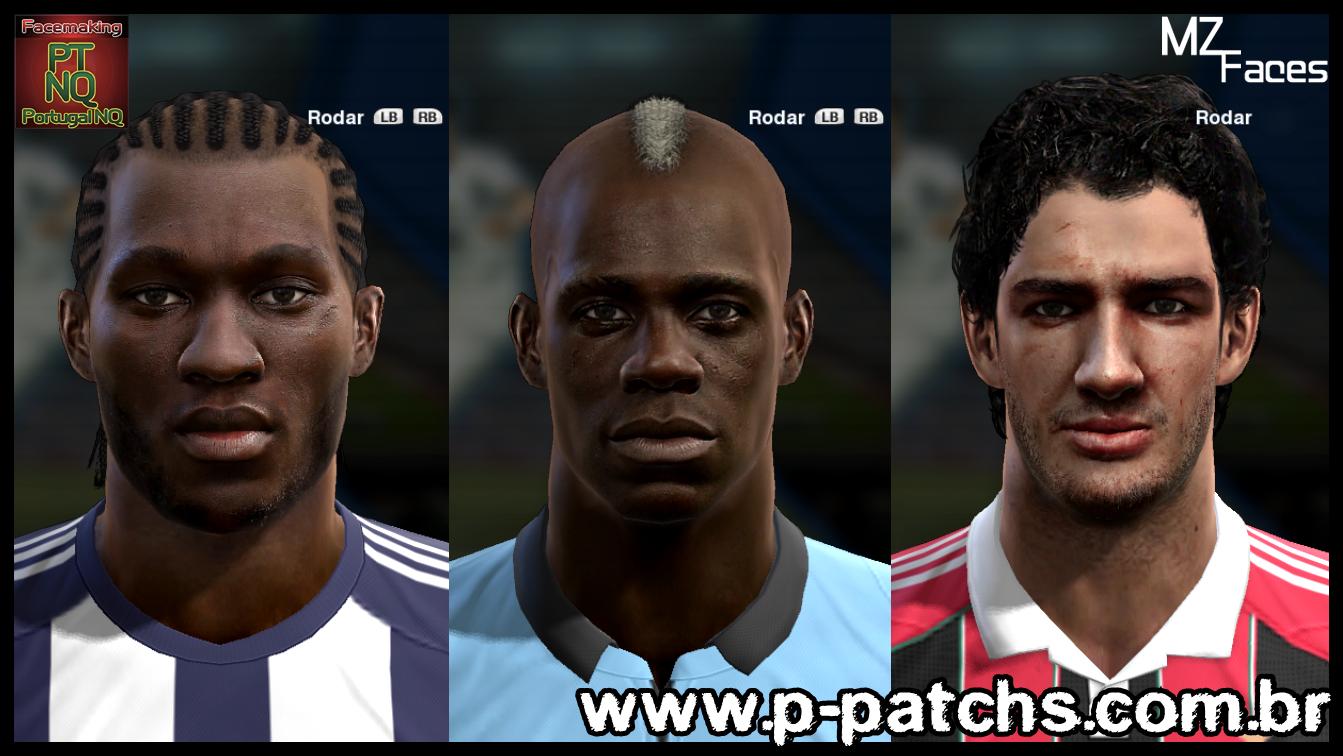 Romelu Lukaku, Romelu Lukaku e Alexandre Pato Faces - PES 2013