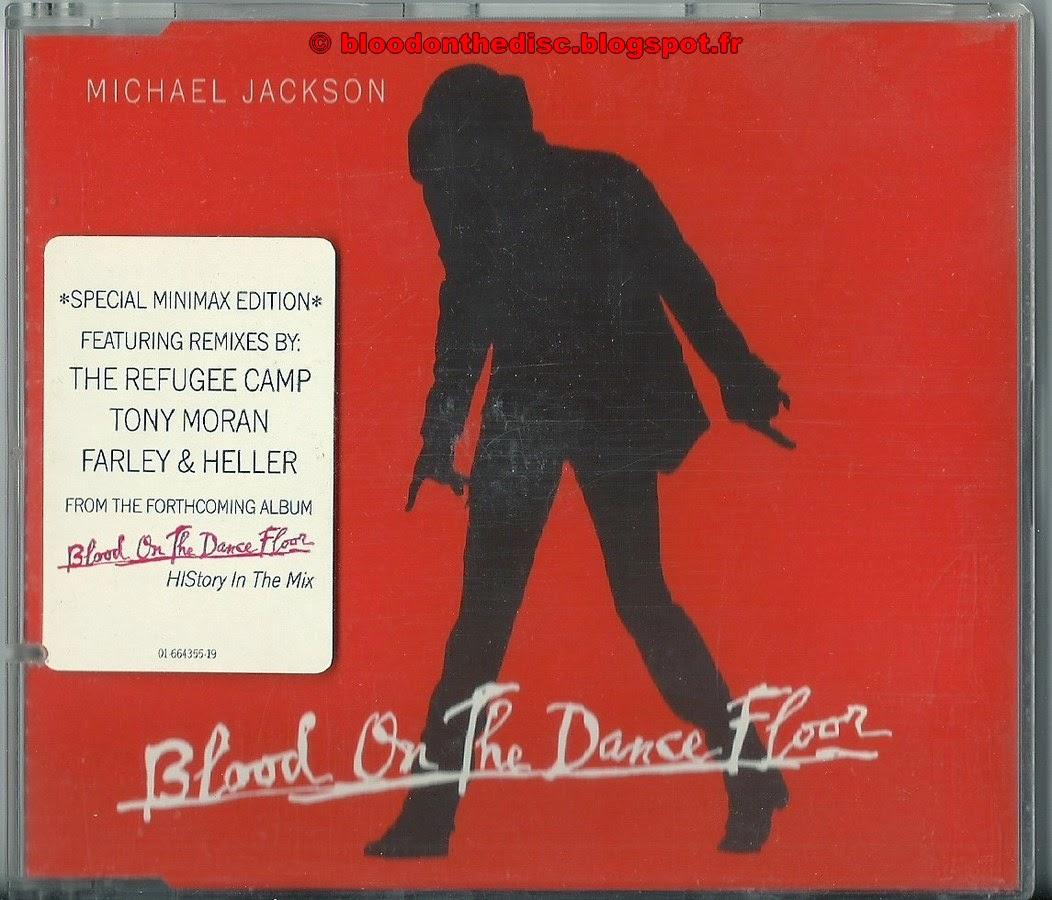 Blood on the dancefloor pochette maxi cd rouge