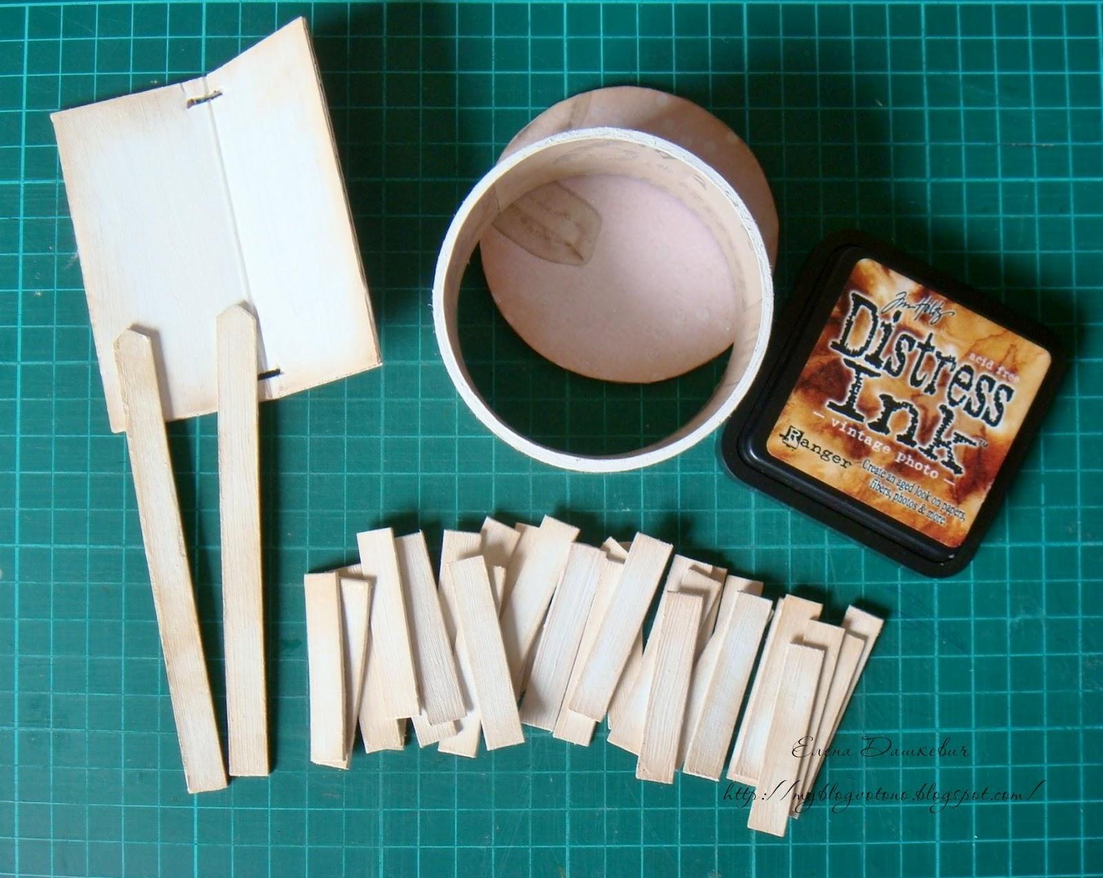 Сделать колодец из бумаги