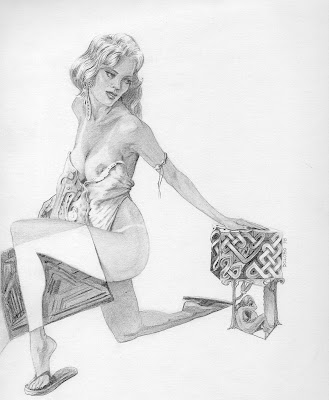 Dolobo Drawing, figurative, graphite drawing