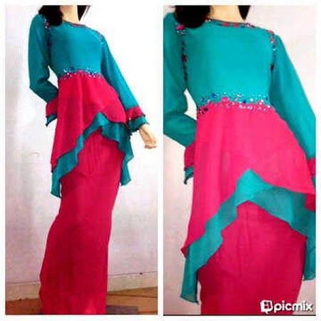 Tempahan Kini Dibuka. Exclusive Haura 2 Layer Peplum Dress