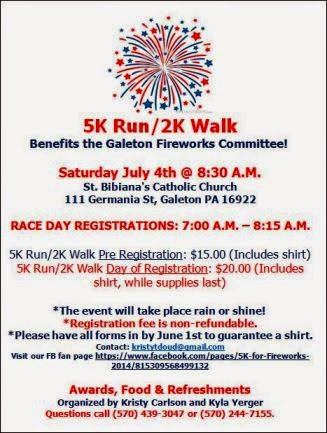 7-4 5K Run/ 2K Walk Galeton