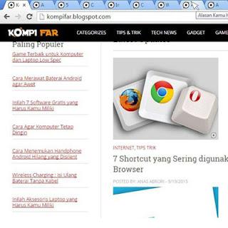 Menutup tab browser