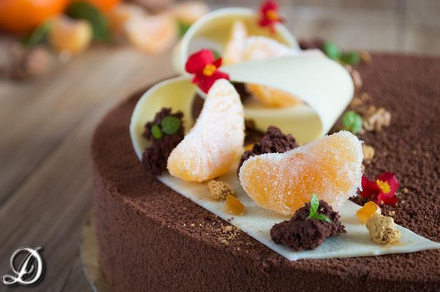Tarta de Chocolate, Mandarina y Pimienta de Sichuan