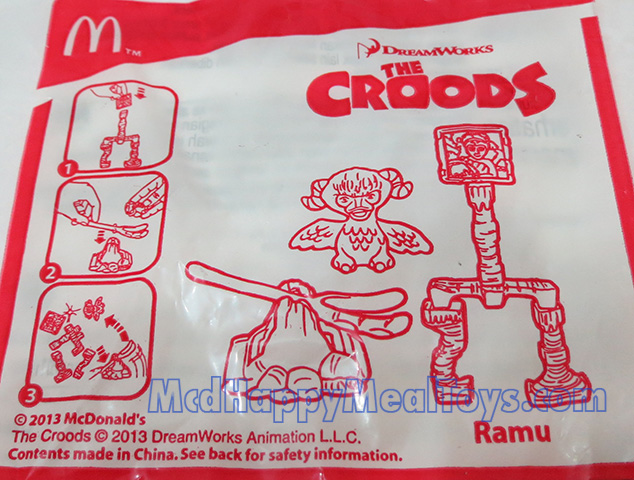 The Croods Toys R Us : Dreamworks the croods happy meal toys