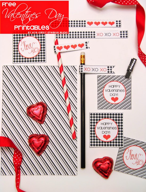 valentines day ideas, black and white valentines, polka dot valentines, black and white stripes