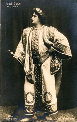 GREAT GERMAN TENOR RUDOLF BERGER (1874 - 1915) CD