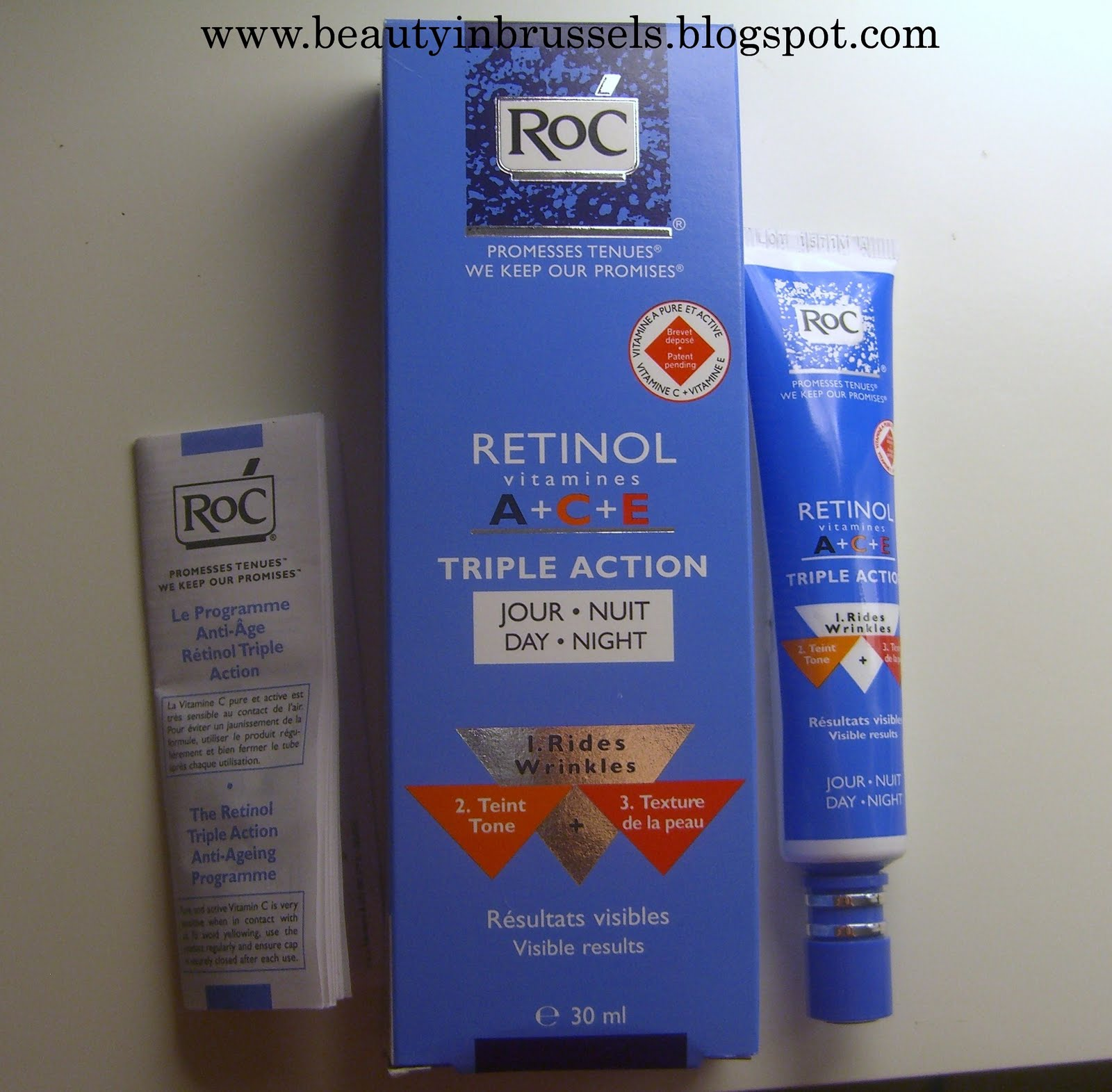 Beauty in Brussels: ROC Retinol vitamines A+C+E trile action