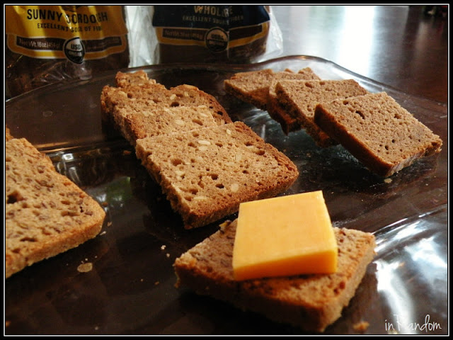 organic bread with cheese