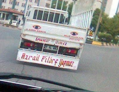 kamyon arkası yazısı