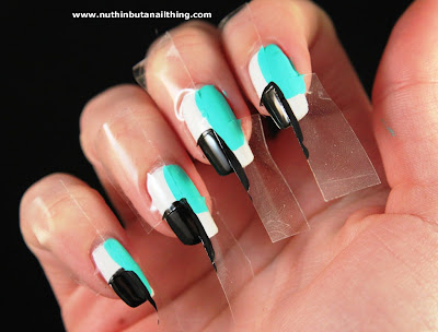 sellotape nails tutorial