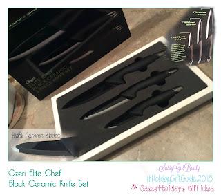 Ozeri Elite Chef Black Ceramic Knife Set