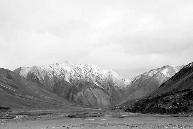 Beautiful Leh Ladhakh Mountains black and white photography