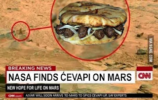 Screenshots of the Cevapi found on Mars.