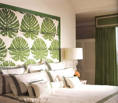 green and white bedroom celerie kemble palm