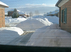 OK, so I couldn't resist a shot of the drifts, taken from indoors!