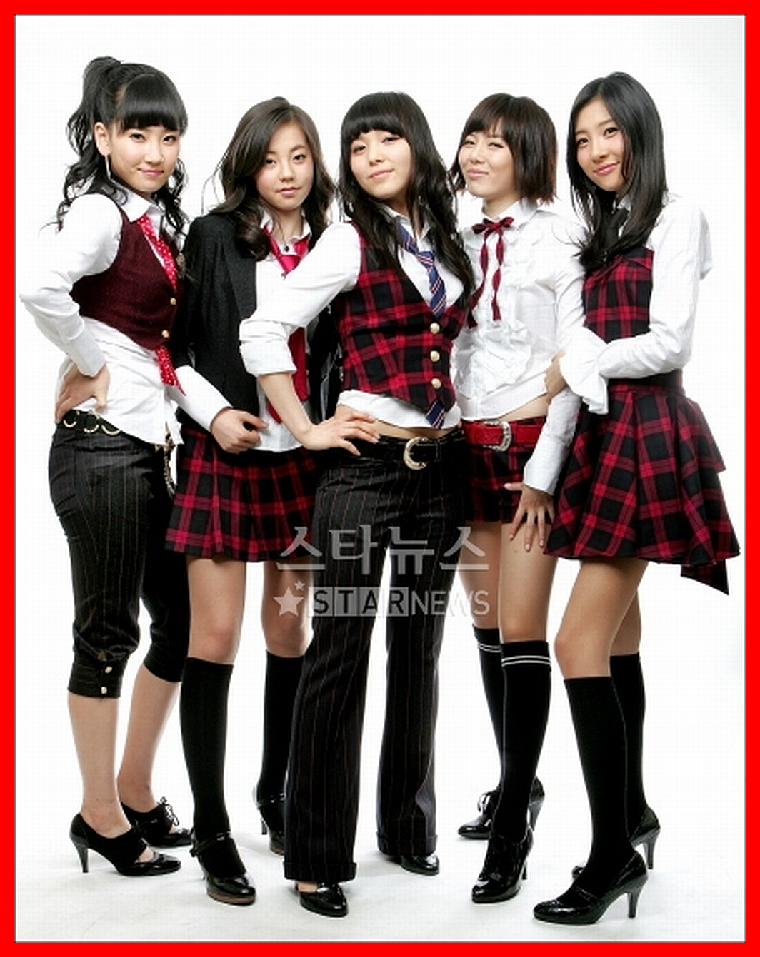 click for imagesize wallpaper Wonder Girls school uniform