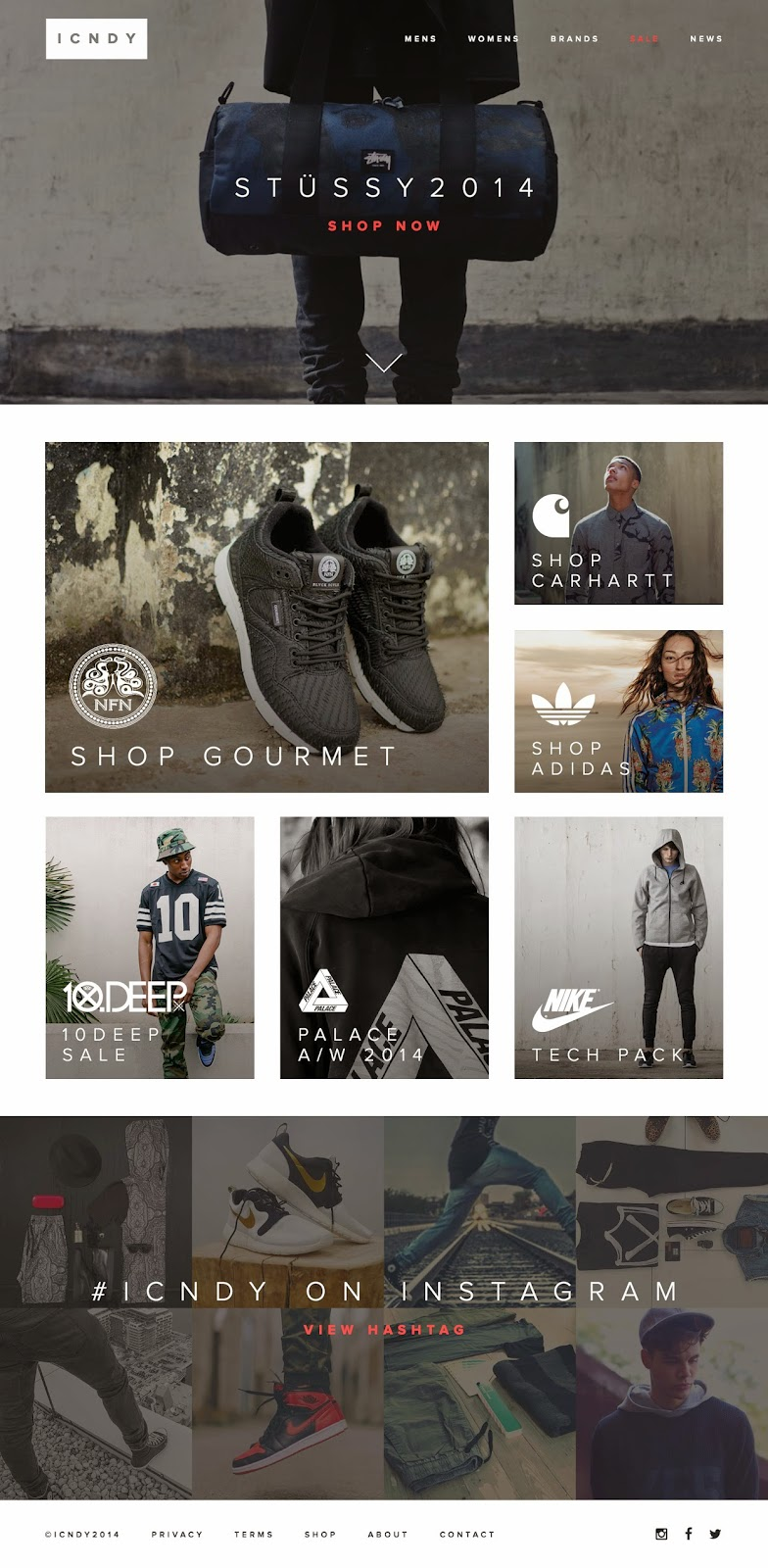 Icndy Ecommerce Clothing Website PSD Template